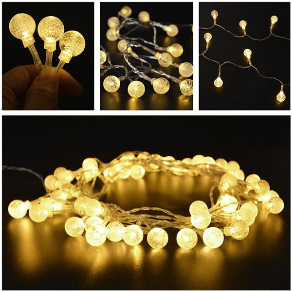 2M 20 LED Bubble Ball String Lights LED Fairy Lights for Festival Christmas Halloween