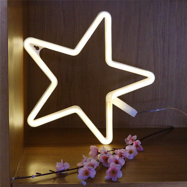 Star Cloud Shape Neon LED Light Cute Decor Light Wall Decor for Christmas Birthday Party
