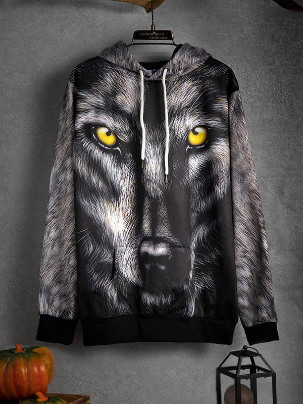 Wolf head print sweater