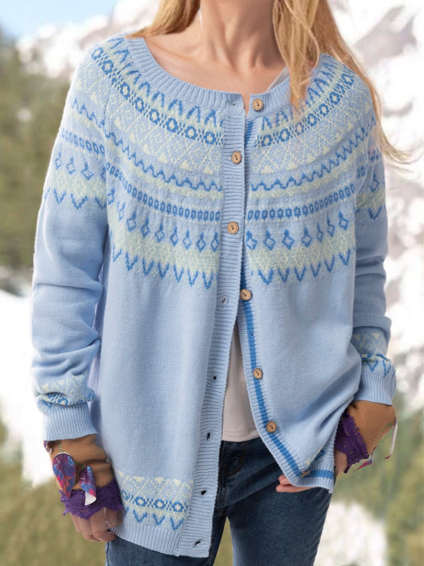 Plus size Cotton Knitted Casual Outerwear