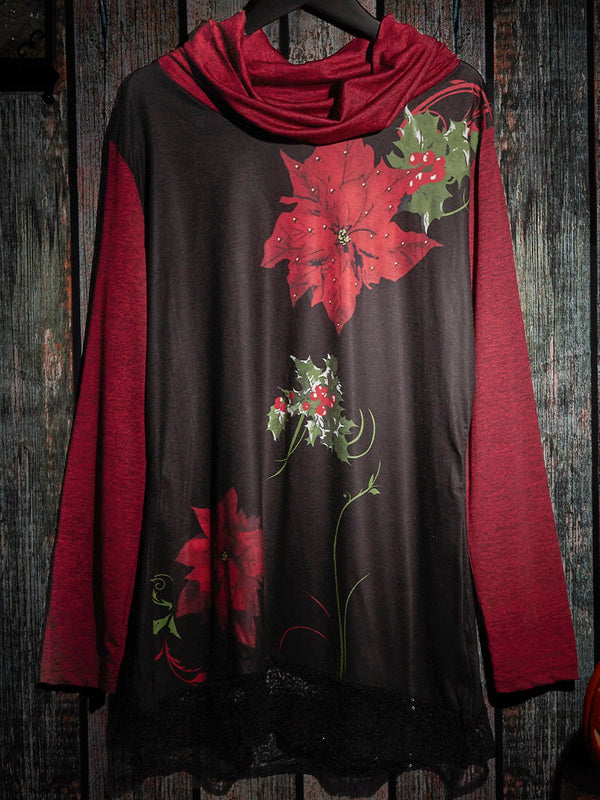 Loose printed long sleeves
