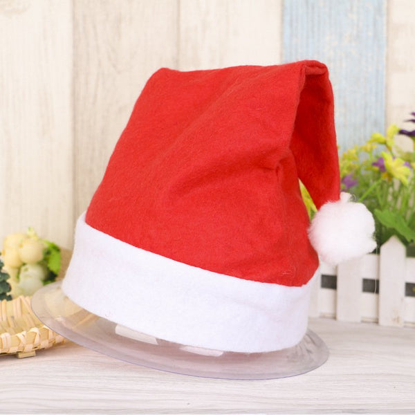 Red Santa Hat Xmas Party Christmas Costume Classic Hat for Adult Kids