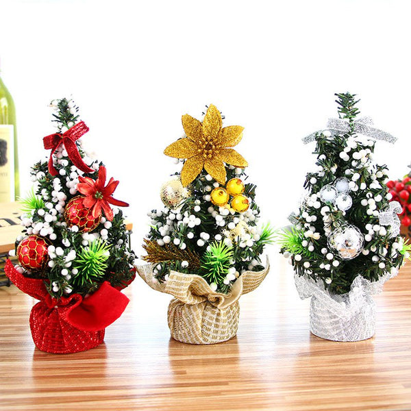 20cm Mini Christmas Tree Desk Table Ornament Xmas Party Decoration Gift