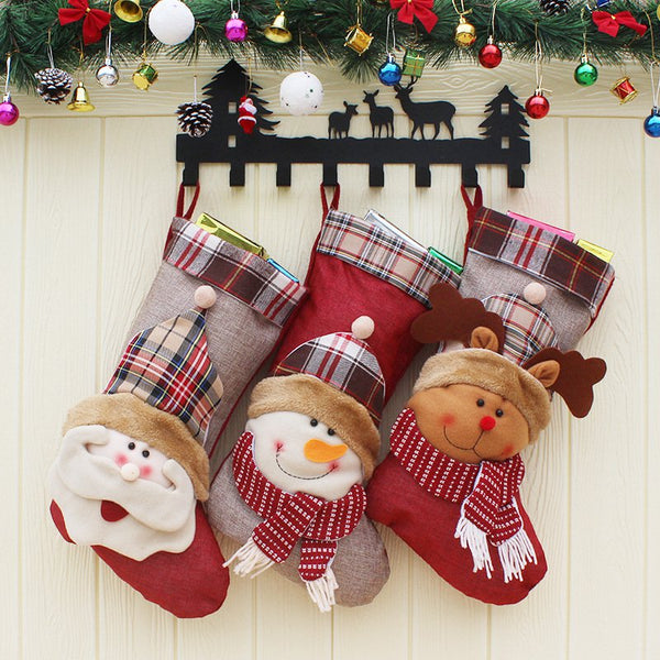 Christmas Stocking Socks Christmas Tree Xmas Decoration Gift Bag