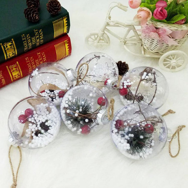 Christmas Tree Pendant Transparent Plastic Christmas Balls For Children's Toys