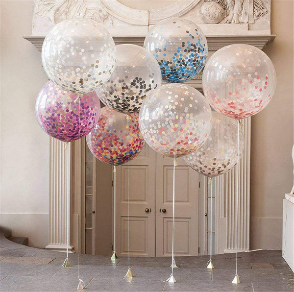 "36"" Confetti Balloons Jumbo Latex Balloon Paper for Wedding Party Decoration"