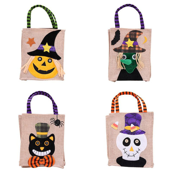 Halloween Cartoon Candy Bag Gift Bag Children's Party Costume Pretend Decor