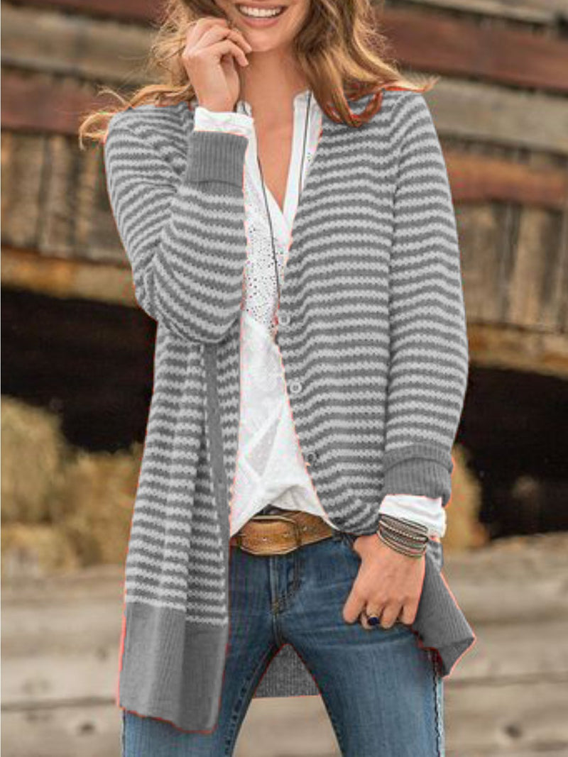 Casual Outerwear Plus Size Cardigan