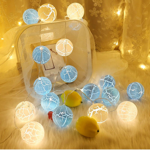 New Crack Ball Star Lamp Battery LED Fairy String Light Christmas Decoration Lantern