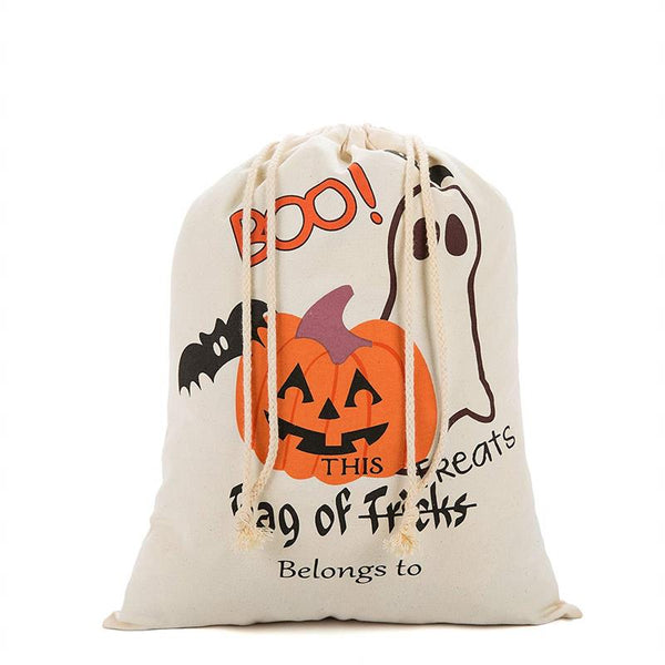 Halloween Canvas Candy Bag Pumpkin Head Gift Bag