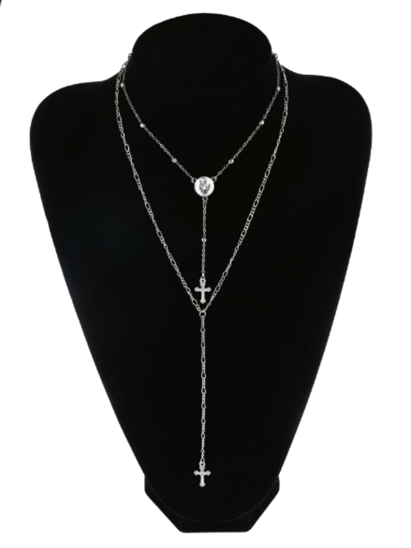 Cross Multiple Pendant Necklace