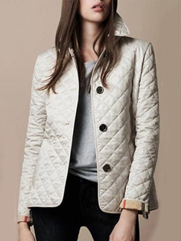 Women's Jacket Buttoned Turn-down Collar Casual Jacket