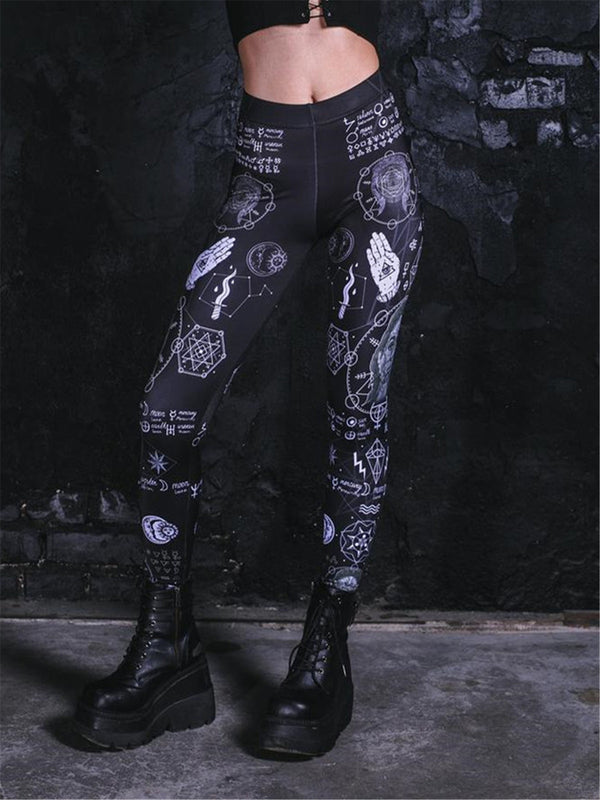 Gothic Women printed  leggings