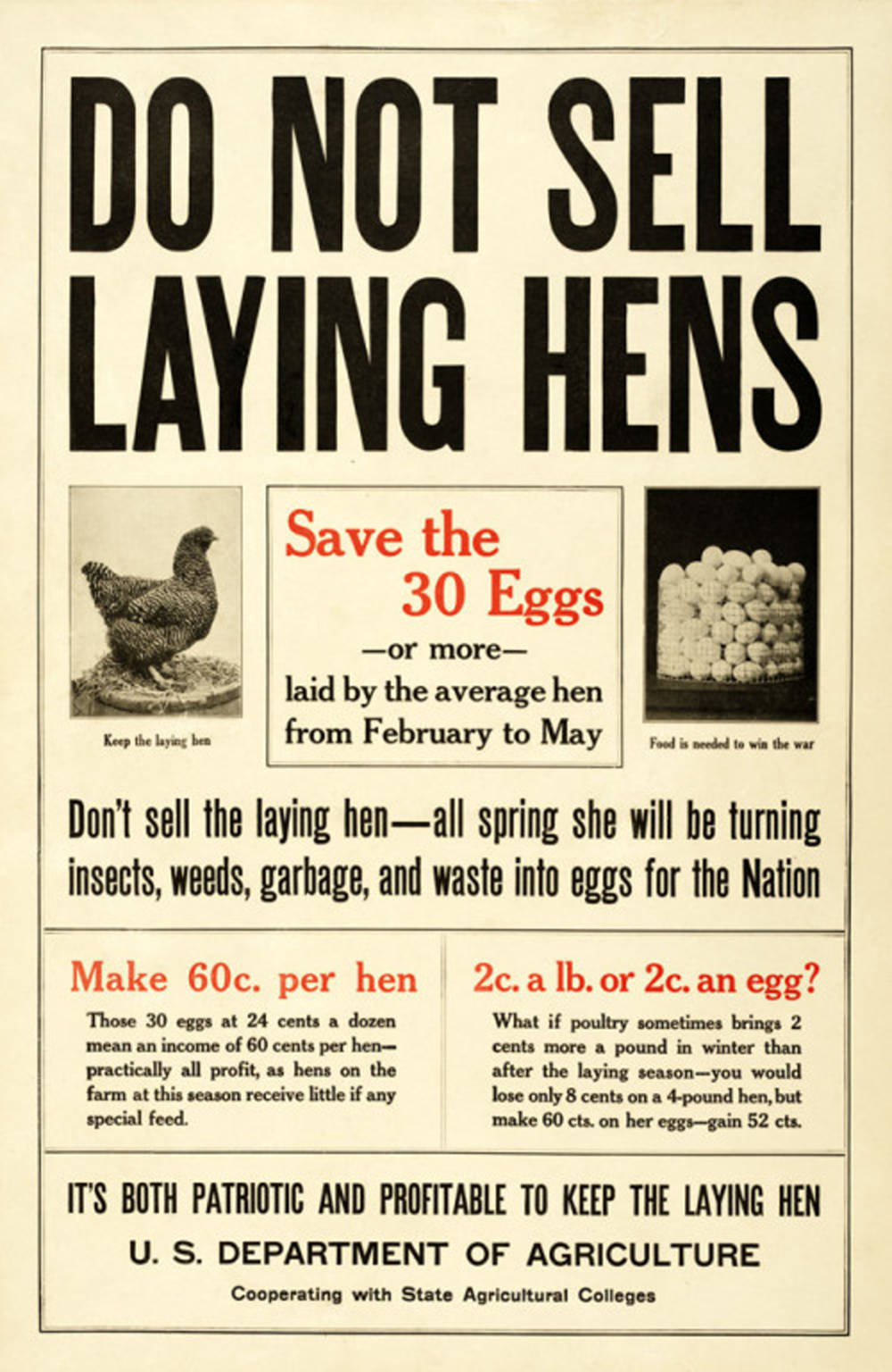 Do Not Sell Laying Hens, Department of Agriculture
