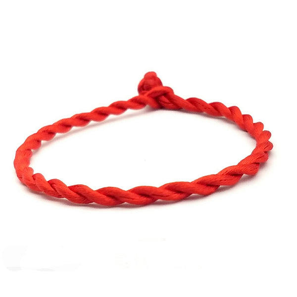 2pcs/set Couple Bracelet Red Rope Lucky Bracelets or Anklet Men Women Cord String Line Handmade Jewelry Lover Gift - Copper Nickel Five