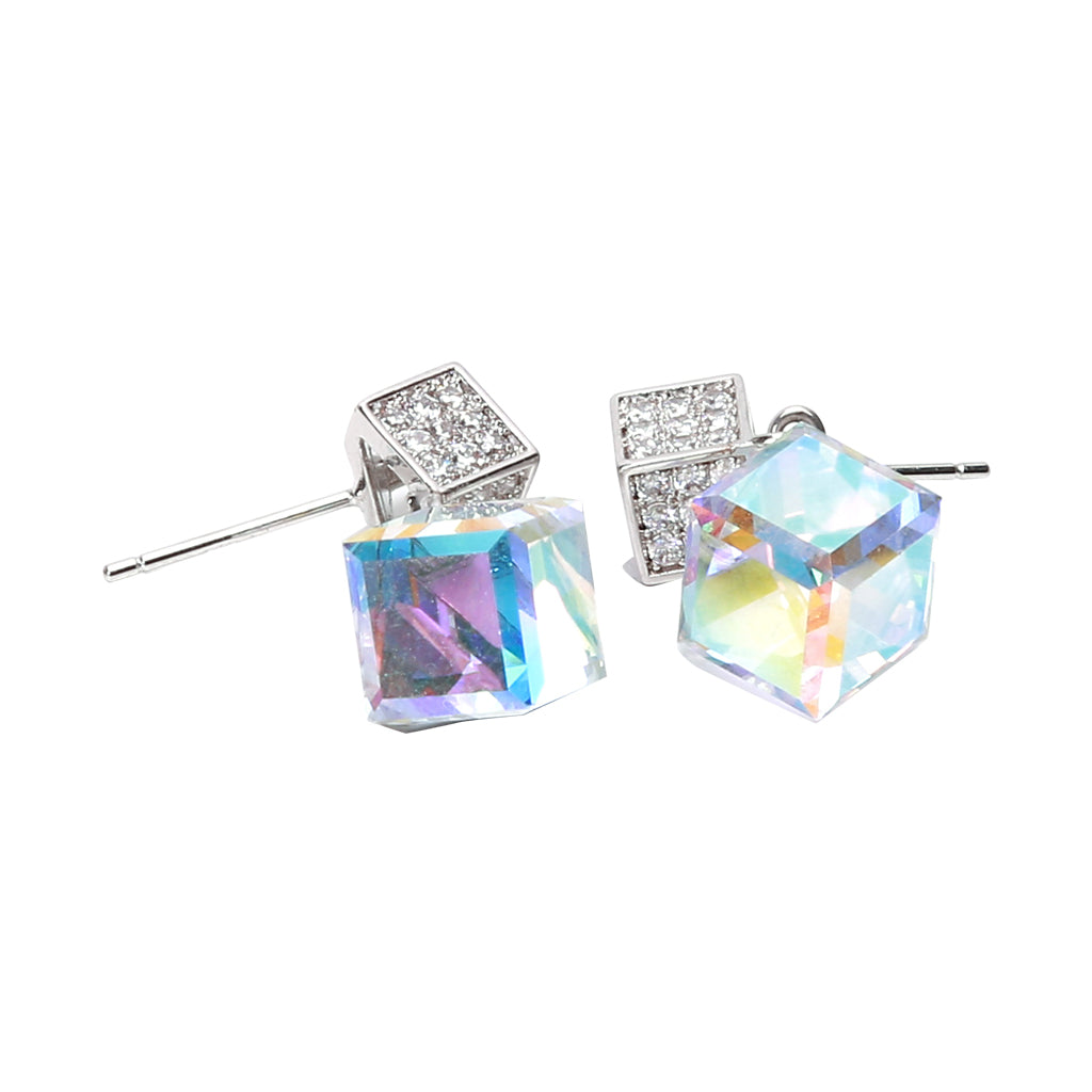 Earring: The Crystal Cube