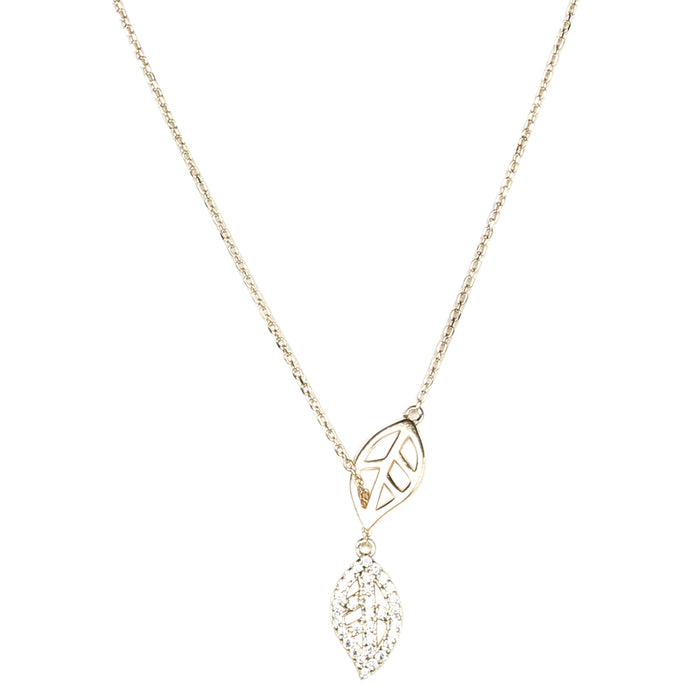 Necklace: The Leaf - Gold/Silver