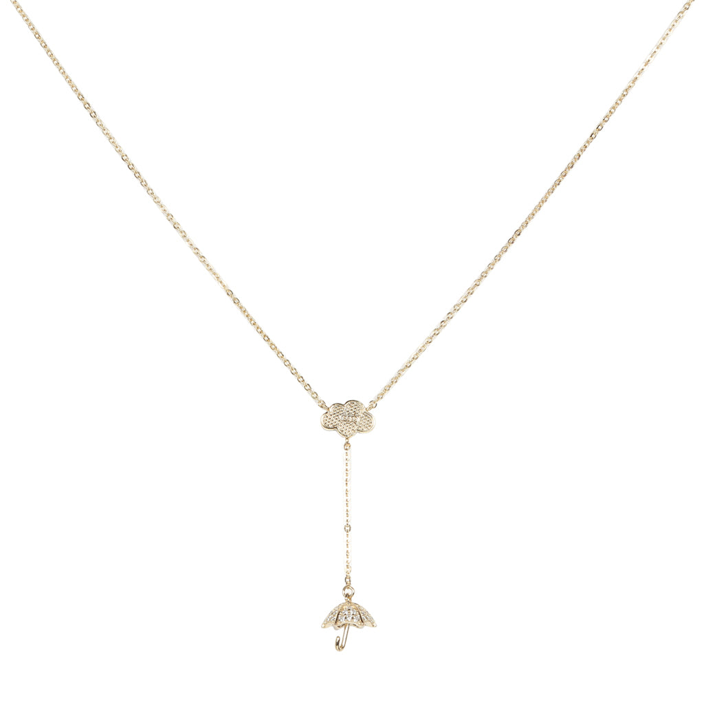 Necklace: The Umbrella - Gold/Silver