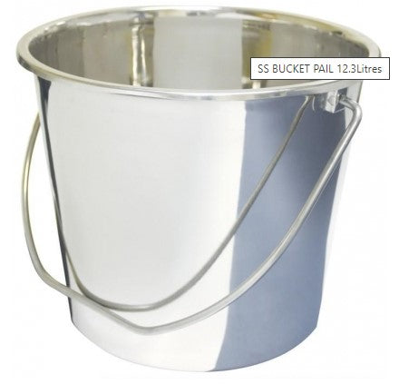 SS BUCKET PAIL 12.3Litres BSTS-HMF-1104