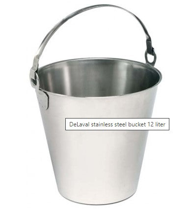 DeLaval stainless steel bucket 12 liter