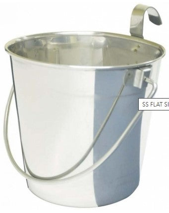 SS FLAT SIDED BUCKET PAIL 946mL - ONE HOOK