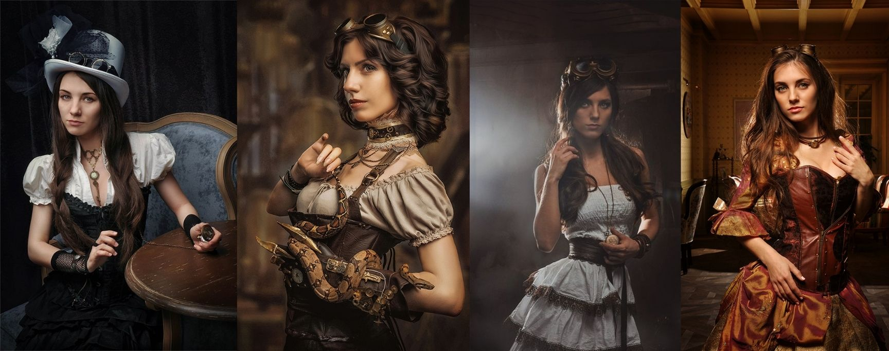 personnage steampunk femme