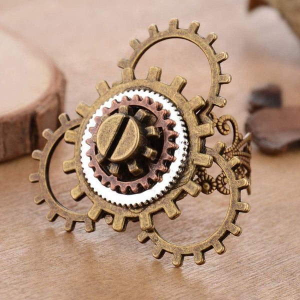 bague rouage steampunk