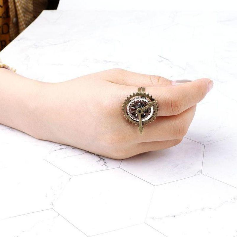 Bague horloge engrenage