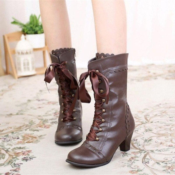Bottines Victoriennes Lacets Steampunk
