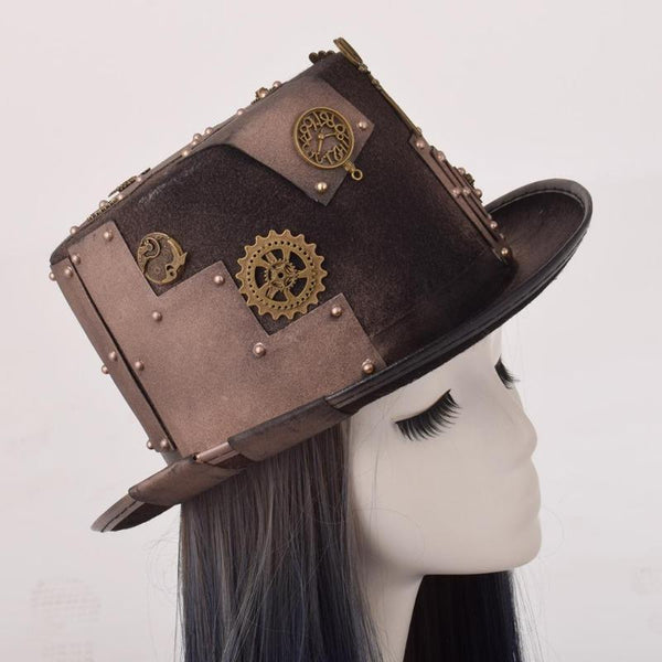 Chapeau Steampunk Marron