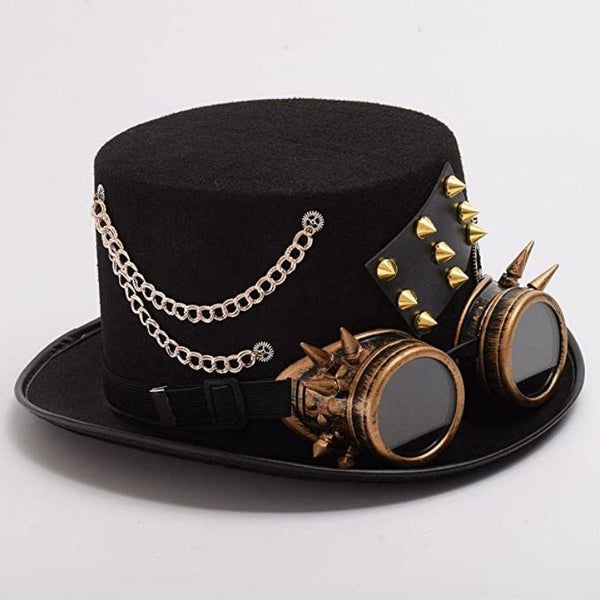 chapeau steampunk engrenage homme