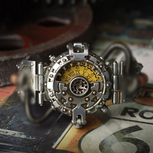 montre style steampunk homme