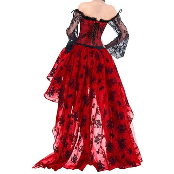 robe steampunk rouge pour femme