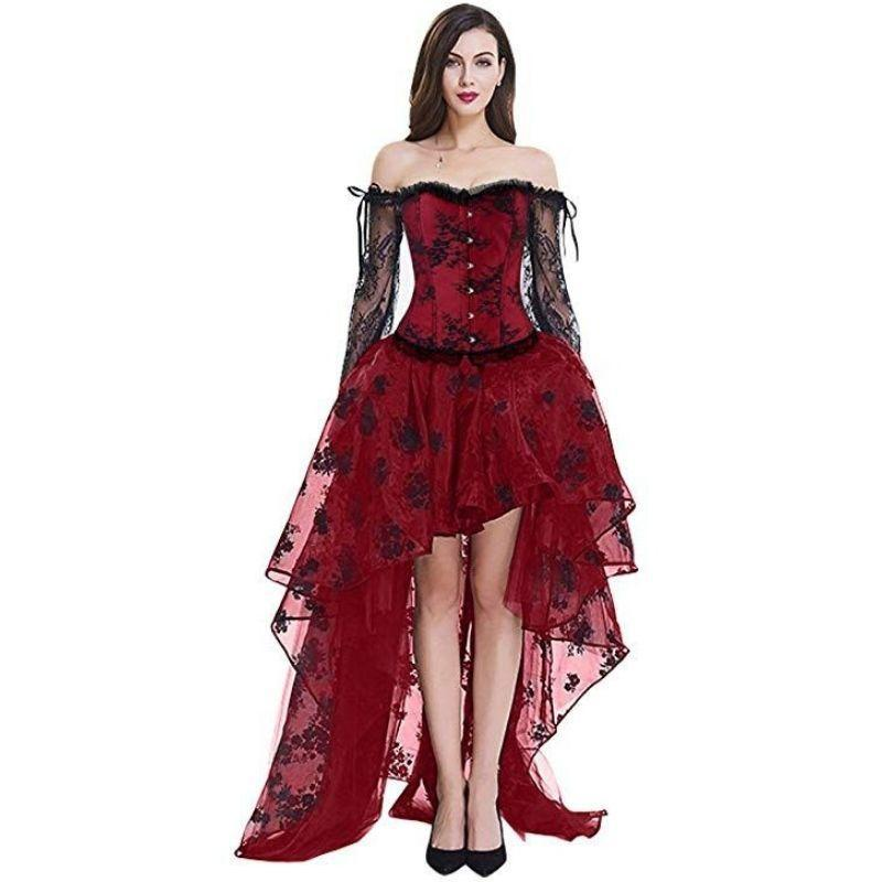 robe steampunk rouge