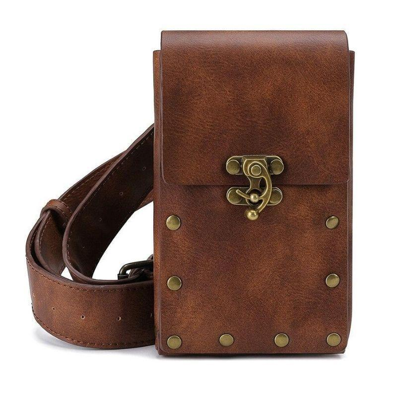 sacoche steampunk marron