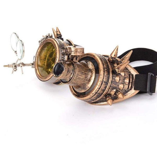 Lunettes Style Steampunk Cuivre
