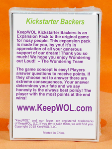 Kickstarter Backers (Limited Edition)