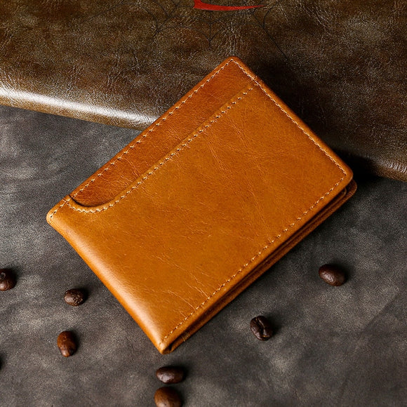Real Leather Drivers License Wallet For Men Top Quality Card Holder For Driving License Trifold 8*10.5cm - zavitoro.myshopify.com