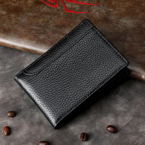 Real Leather Drivers License Wallet For Men Top Quality Card Holder For Driving License Trifold 8*10.5cm - zavitoro