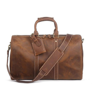 Business Travel Duffle bag BROWN - zavitoro.myshopify.com