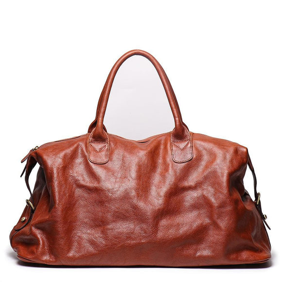 Zavi's top quality FULL GRAIN hand shopper Duffle bag - zavitoro.myshopify.com