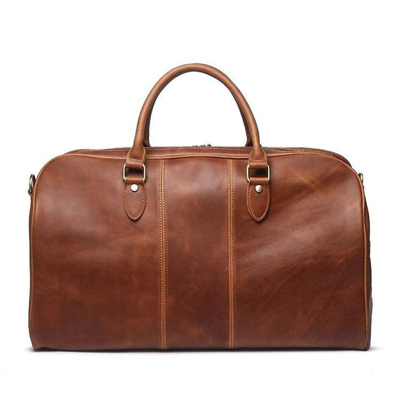 Crazy horse high quality Tote Duffle bag - zavitoro