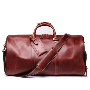 Zavi's Oil wax premium quality Duffle bag CHERRY BROWN - zavitoro.myshopify.com