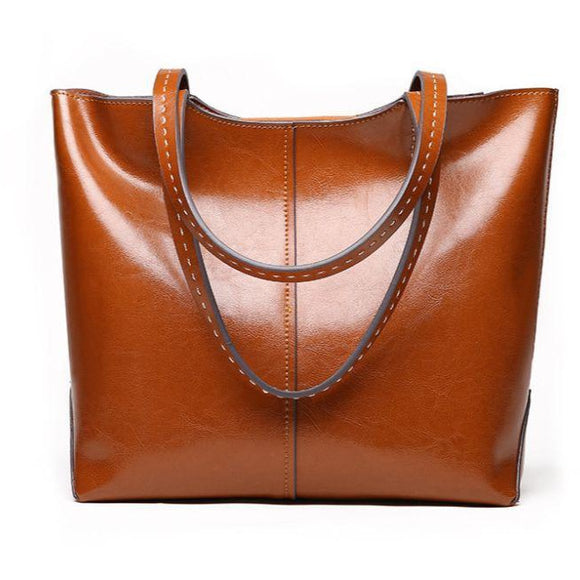 Totes High quality real leather Vintage Tote bag for Women - zavitoro.myshopify.com