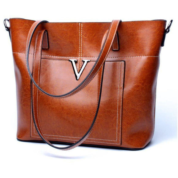 Tote Mini bag oil wash cowhide genuine leather strong durable for Women - zavitoro