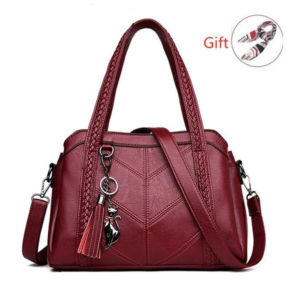 Satchel handbag in genuine real leather high quality for Ladies Large Capacity messeger Women messenger shoulder crossbody Tote Bag - zavitoro