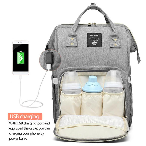 Backpack Mummy Maternity Nappy Bag USB Charging Stroller bolsa Large Capacity Baby Travel Backpack Mommy Nursing Bag Care  Diaper Bags - zavitoro
