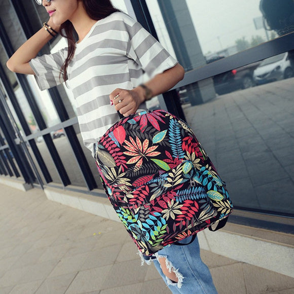 Embroidery Fashion Backpack Women Leisure Back Pack Korean Ladies Knapsack Casual Travel Bags School Girls Classic Bagpack - zavitoro