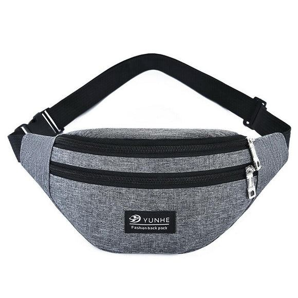 Waist bag Belt chest bag Oxford cloth waist bag outdoor solid color chest bag fashion Men's and women's universal fanny pack sports travel - zavitoro