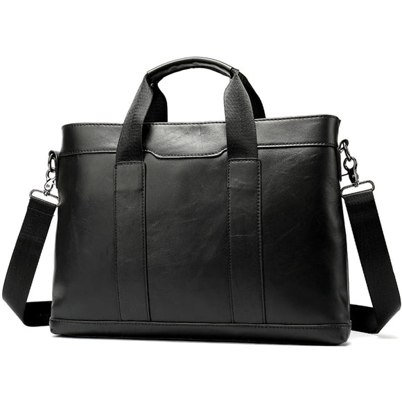 Men's briefcase leather laptop bag men's genuine leather office bag for men's business 14inch document messenger bag men - zavitoro